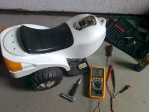 Elektromos, 3 kerekű motor