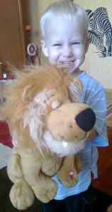 Éneklő plüss oroszlán